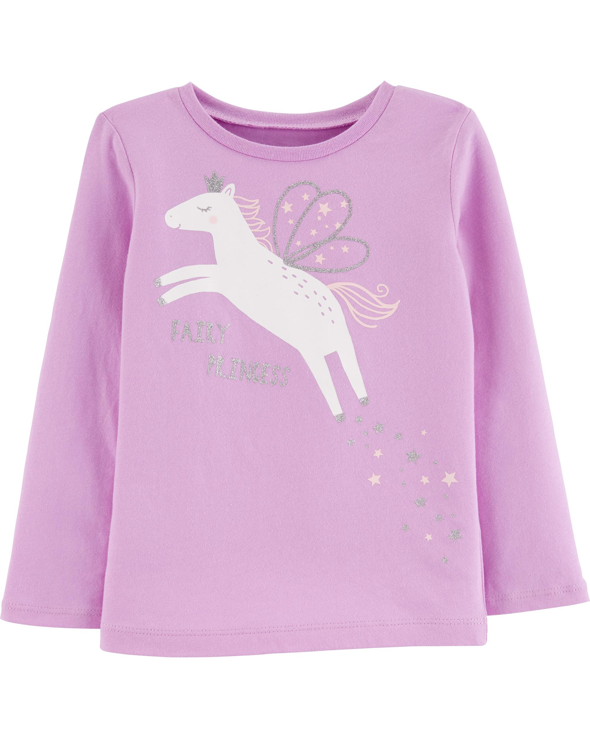 e295d41e85 Glitter Fairy Unicorn Jersey Tee | carters.com