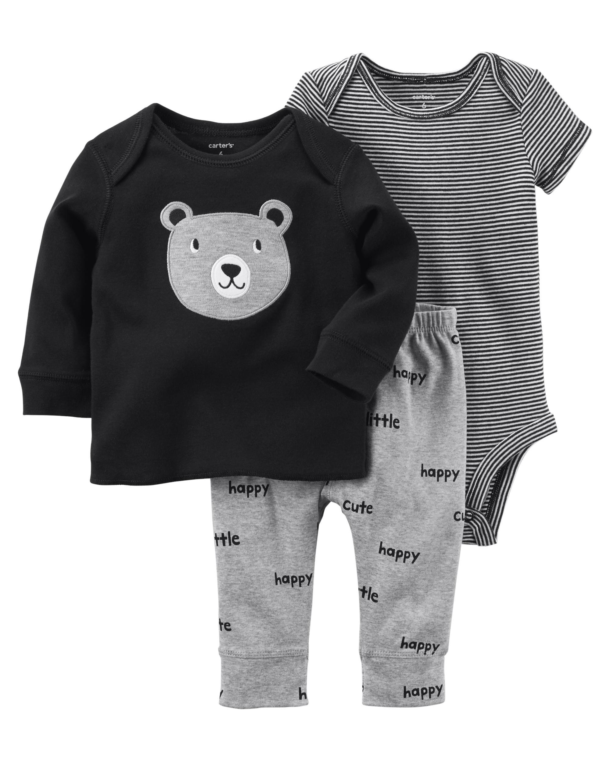 264cf6c58 3-Piece Babysoft Bodysuit Pant Set | carters.com