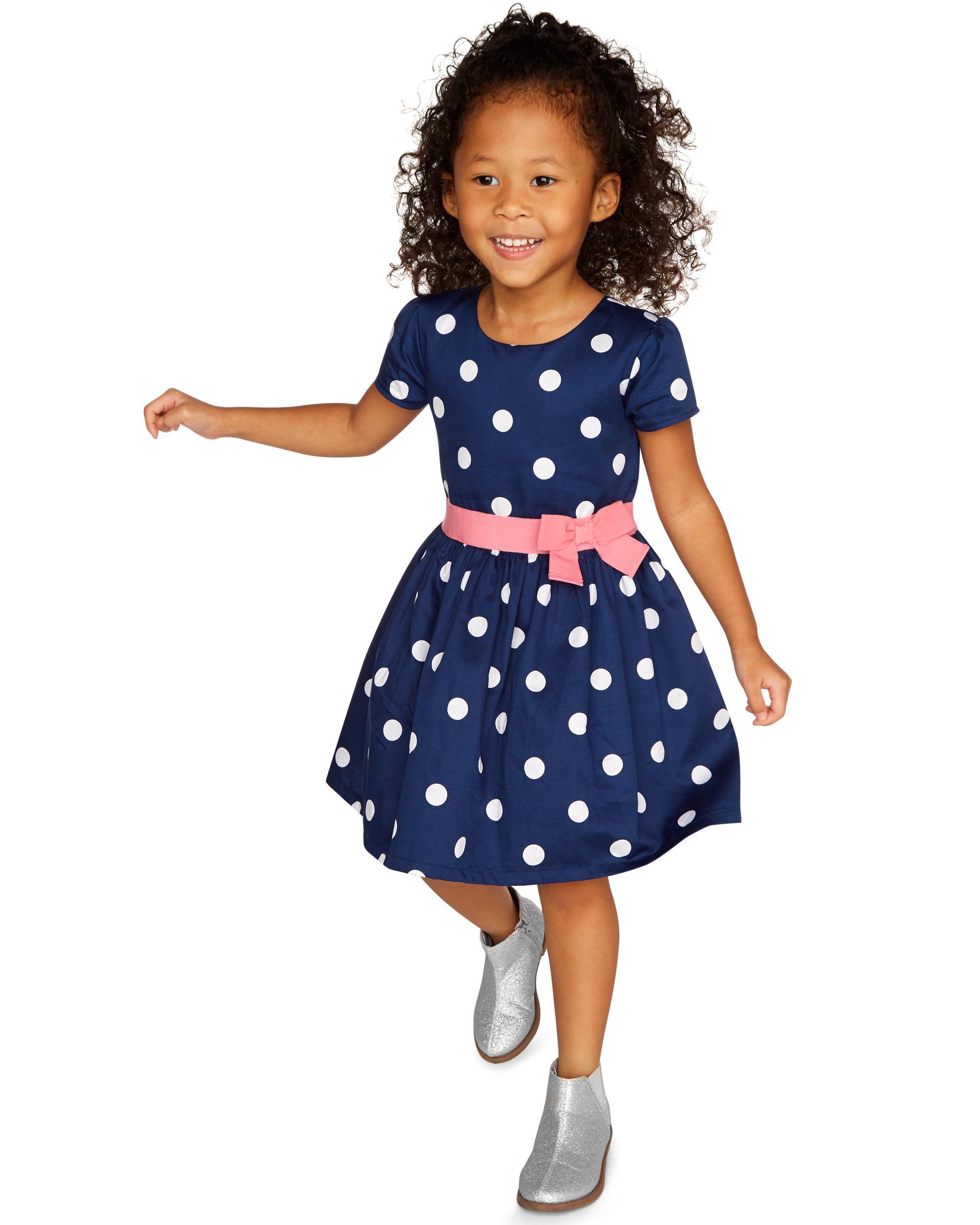 11b1f1e4d1 Polka Dot Sateen Dress | carters.com