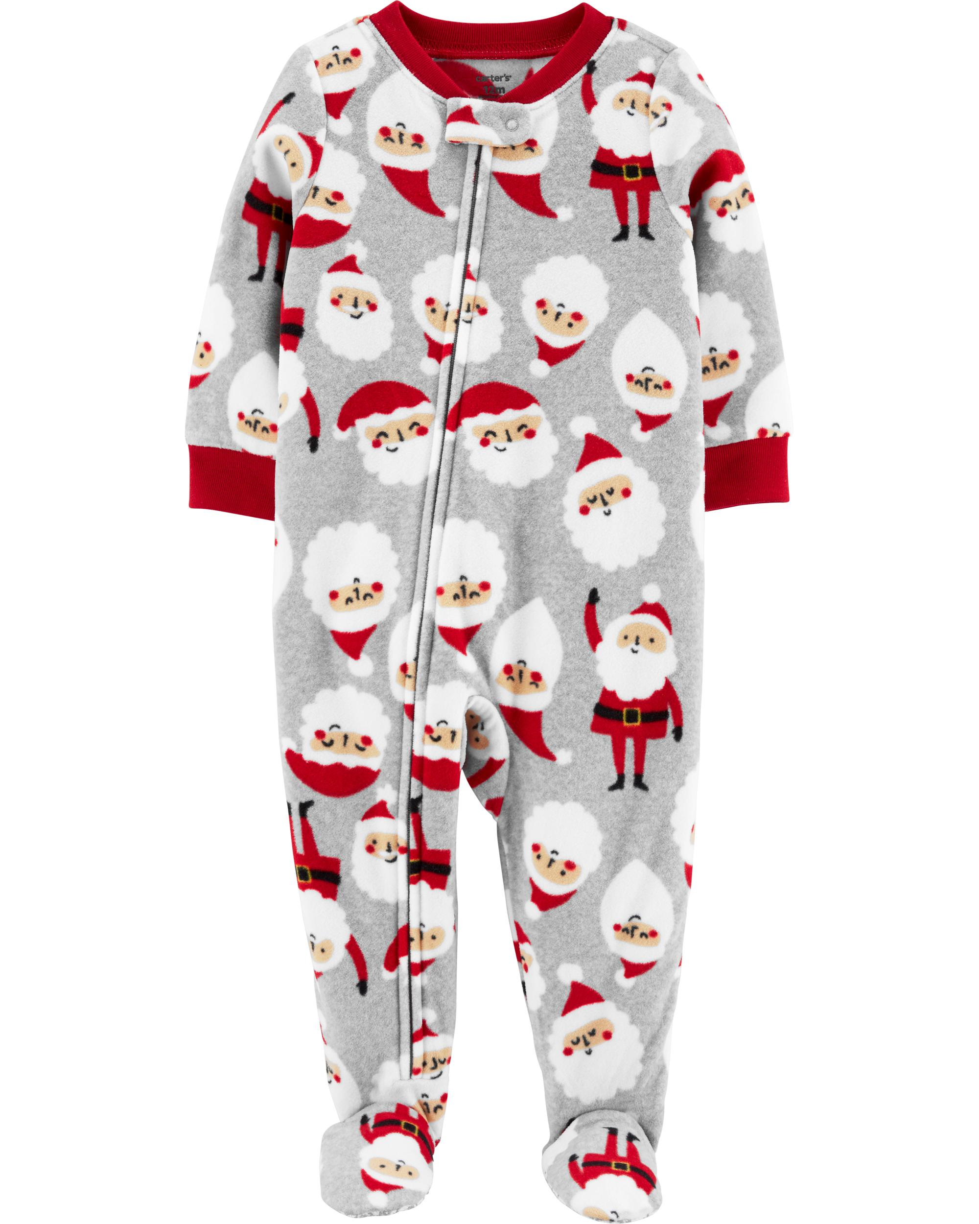 Carter/'s My First Christmas Pajamas Santa Claus Fleece newborn 3 Months NEW