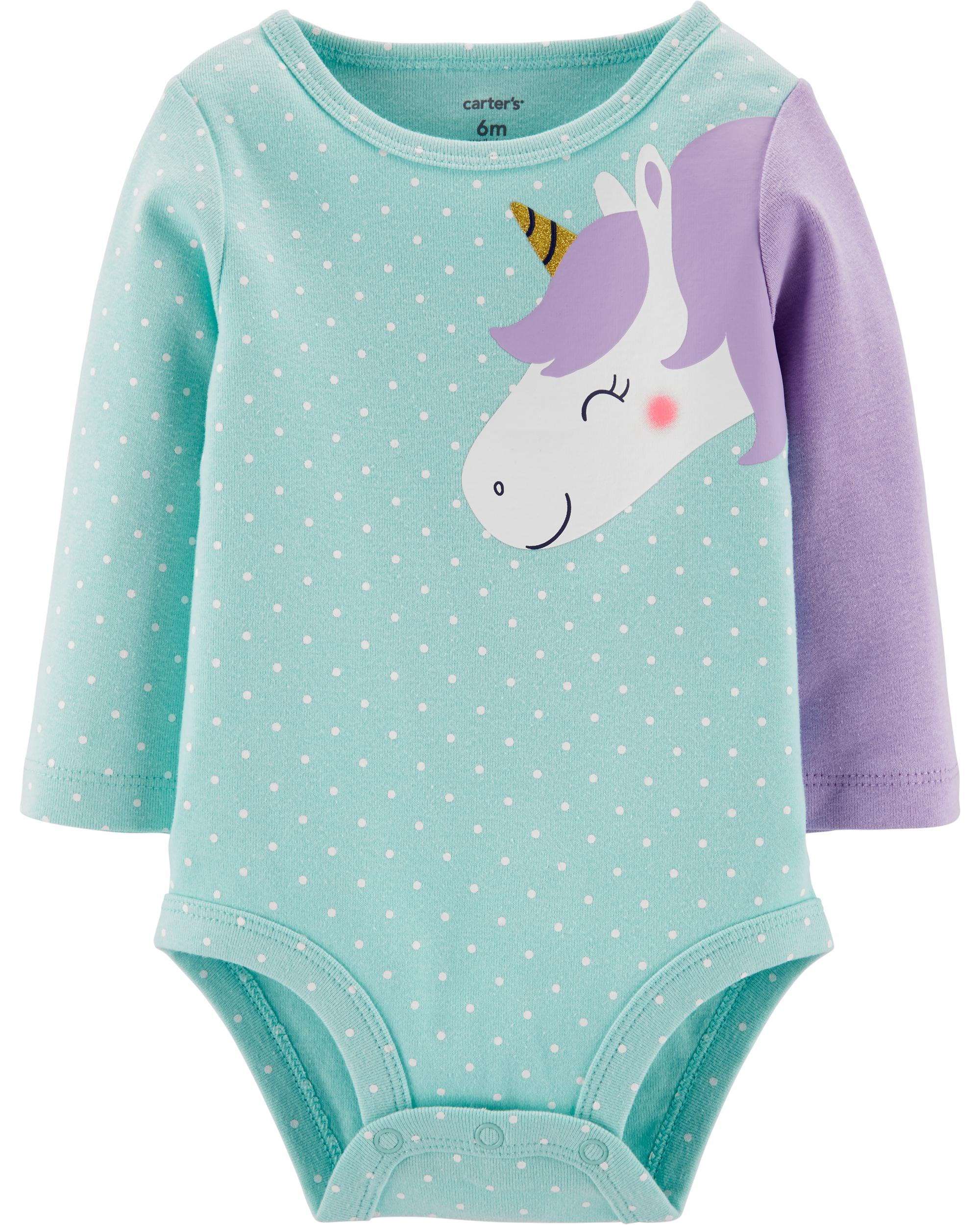 b950f1560a36d Unicorn Collectible Bodysuit | carters.com