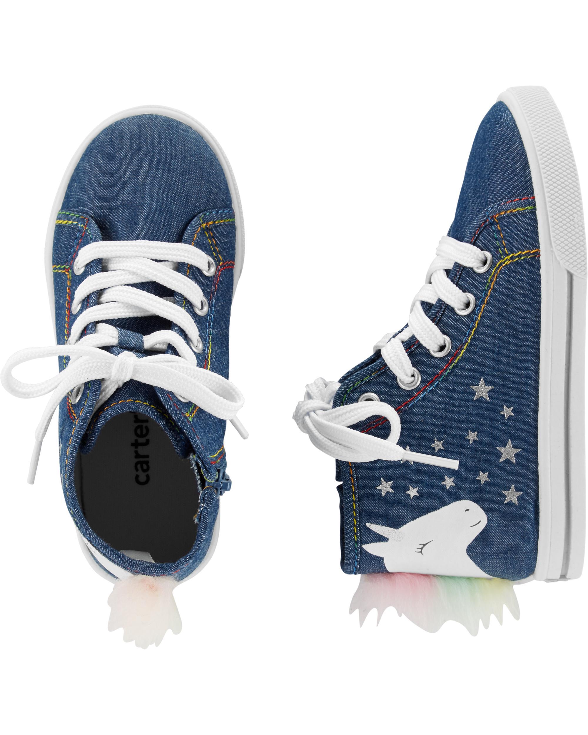 529288d9d9 Carter's Unicorn High Top Sneakers | carters.com