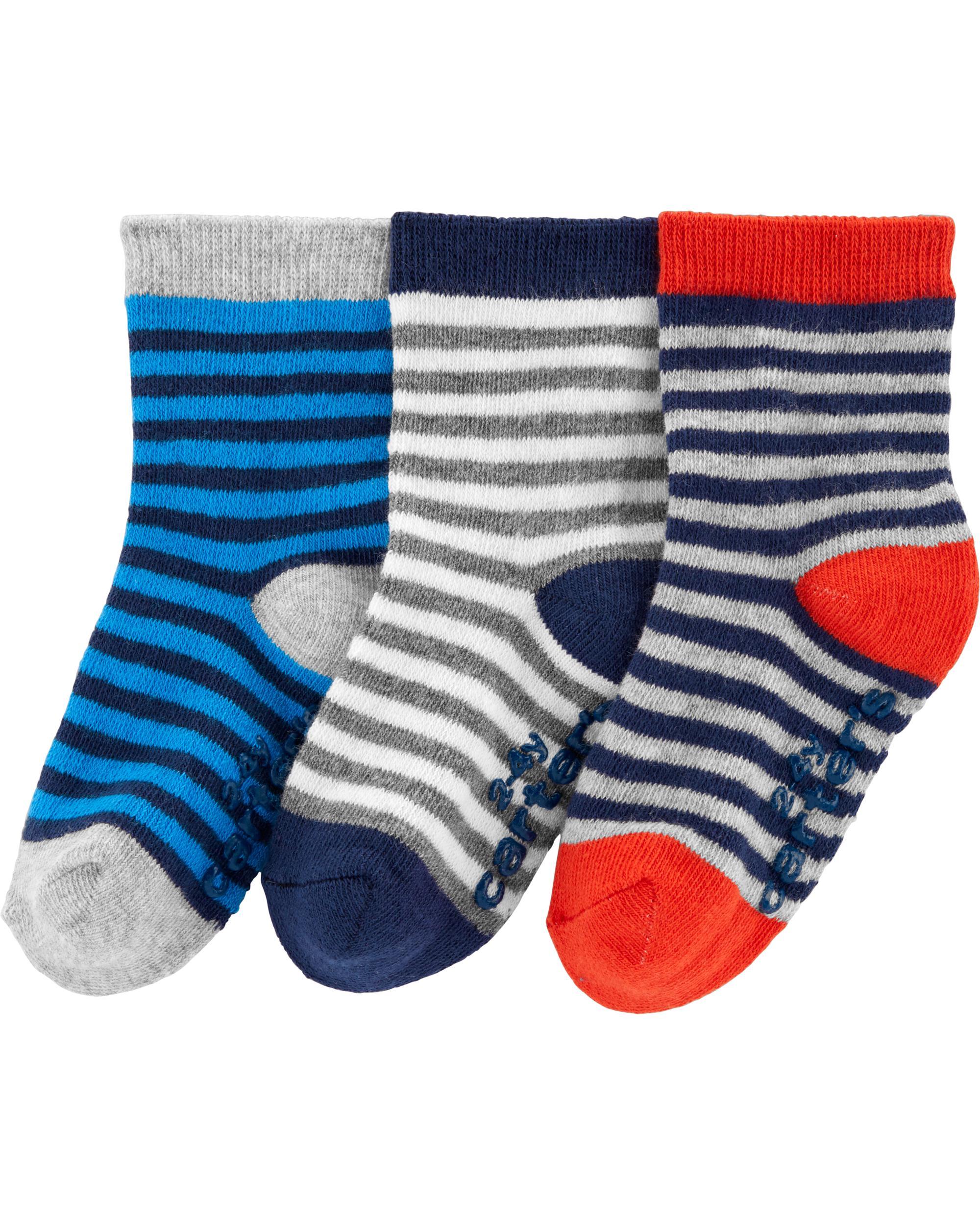 4266c72fdb 3-Pack Striped Socks | carters.com