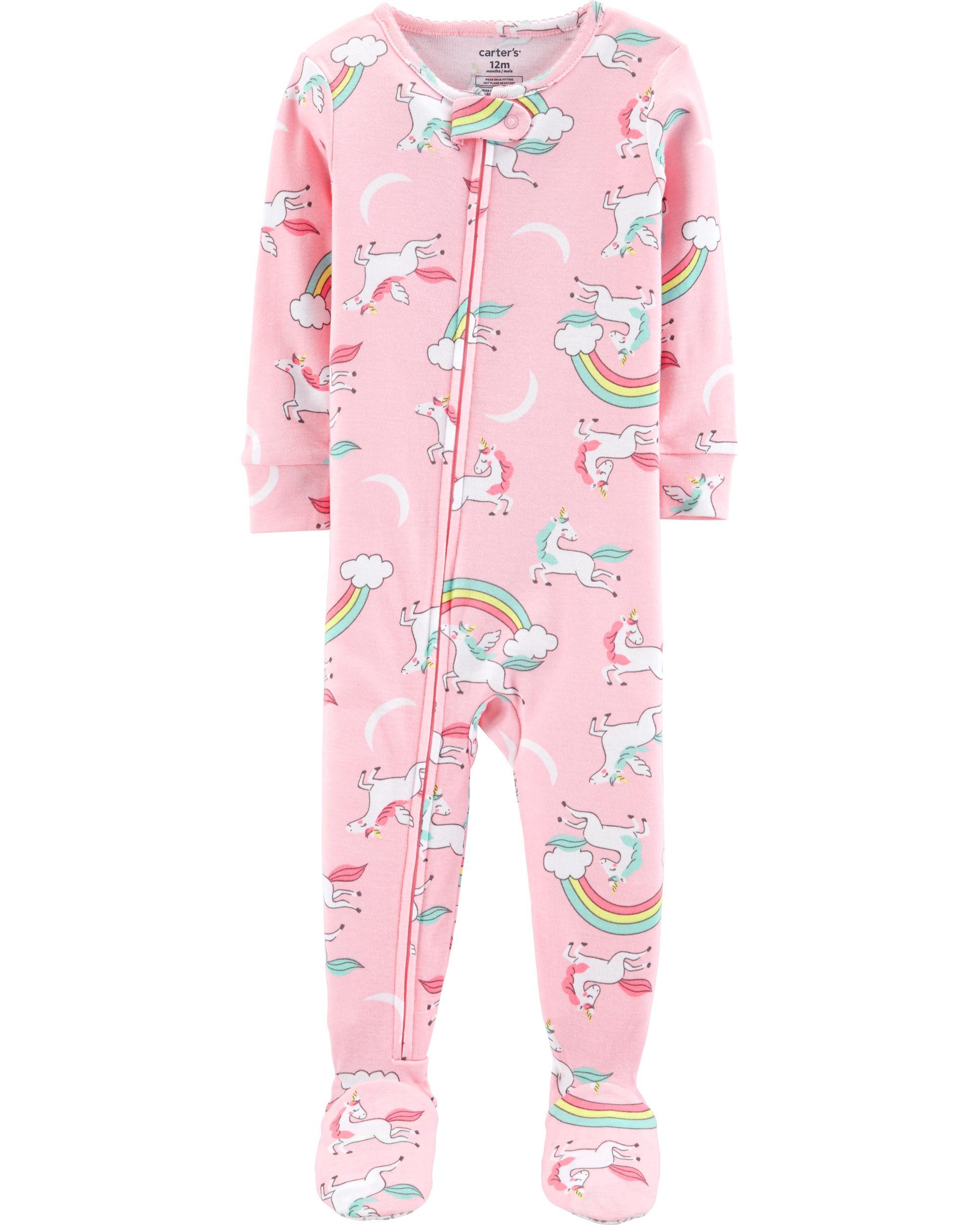 Carters Girls Unicorn /& Rainbow Pajamas Carter's Pyjamas SO CUTE