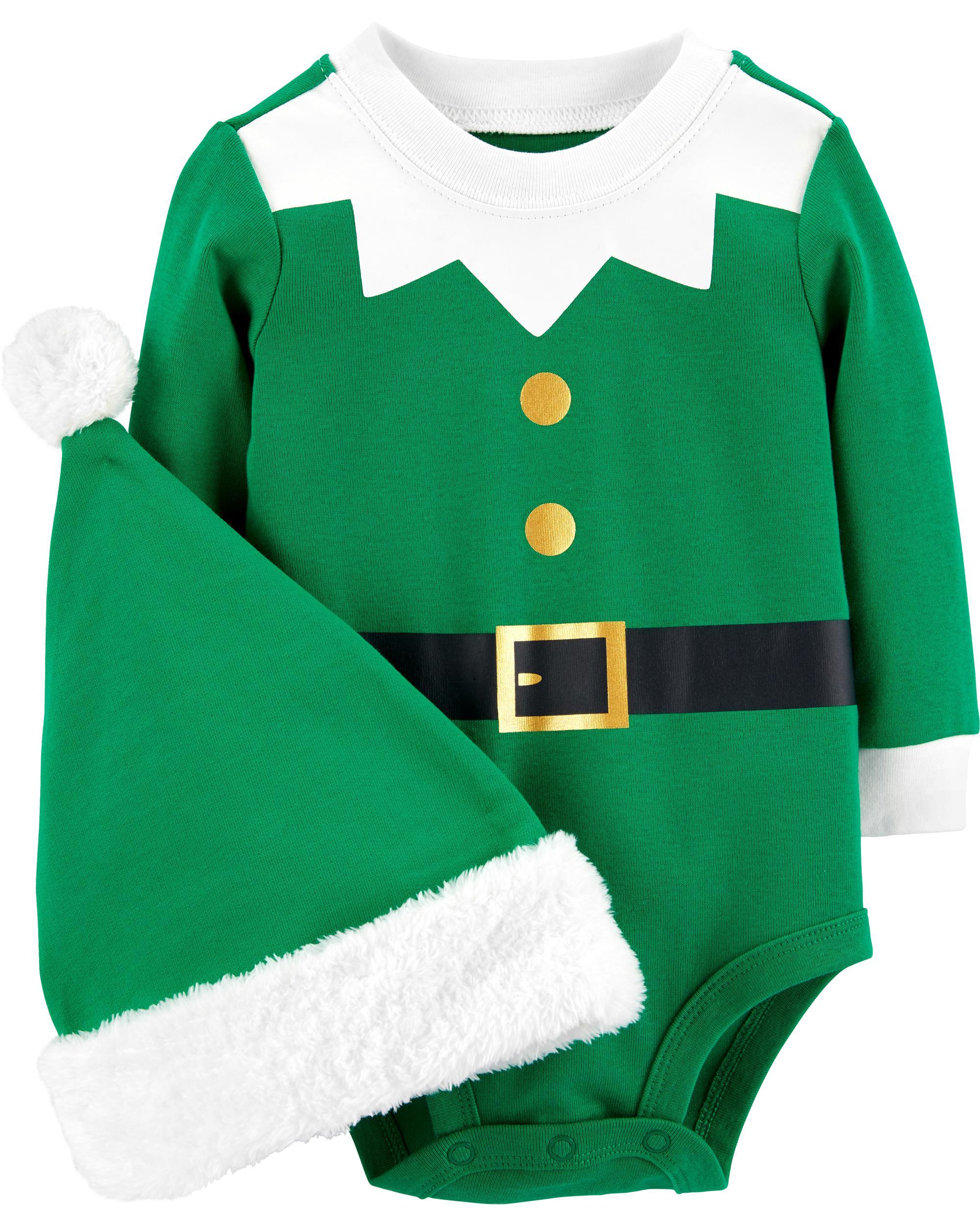 8dccf8fab25ec 2-Piece Elf Bodysuit & Hat Set | carters.com