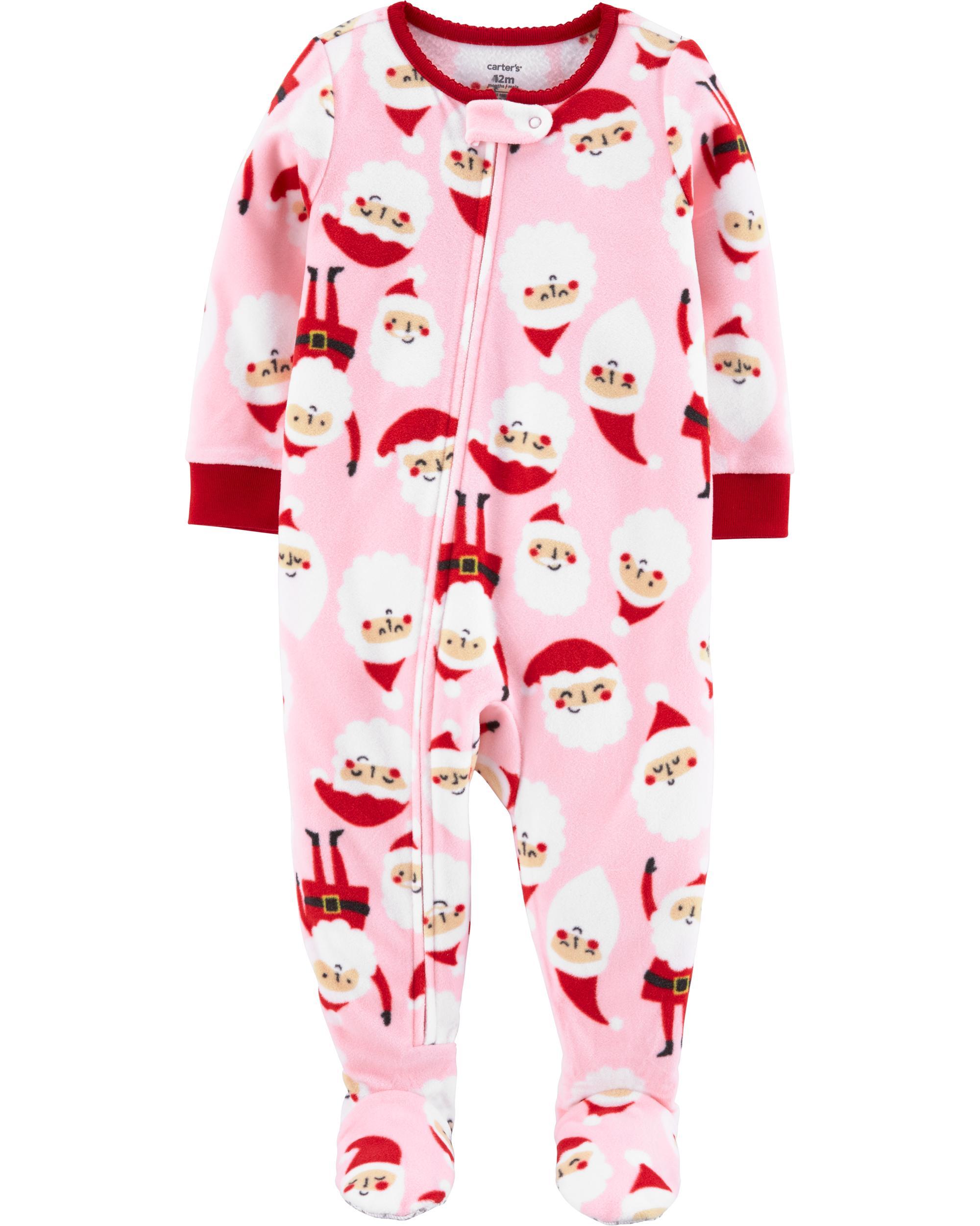 Carter/'s Baby Girls 1-Piece Footed Fleece Pajamas