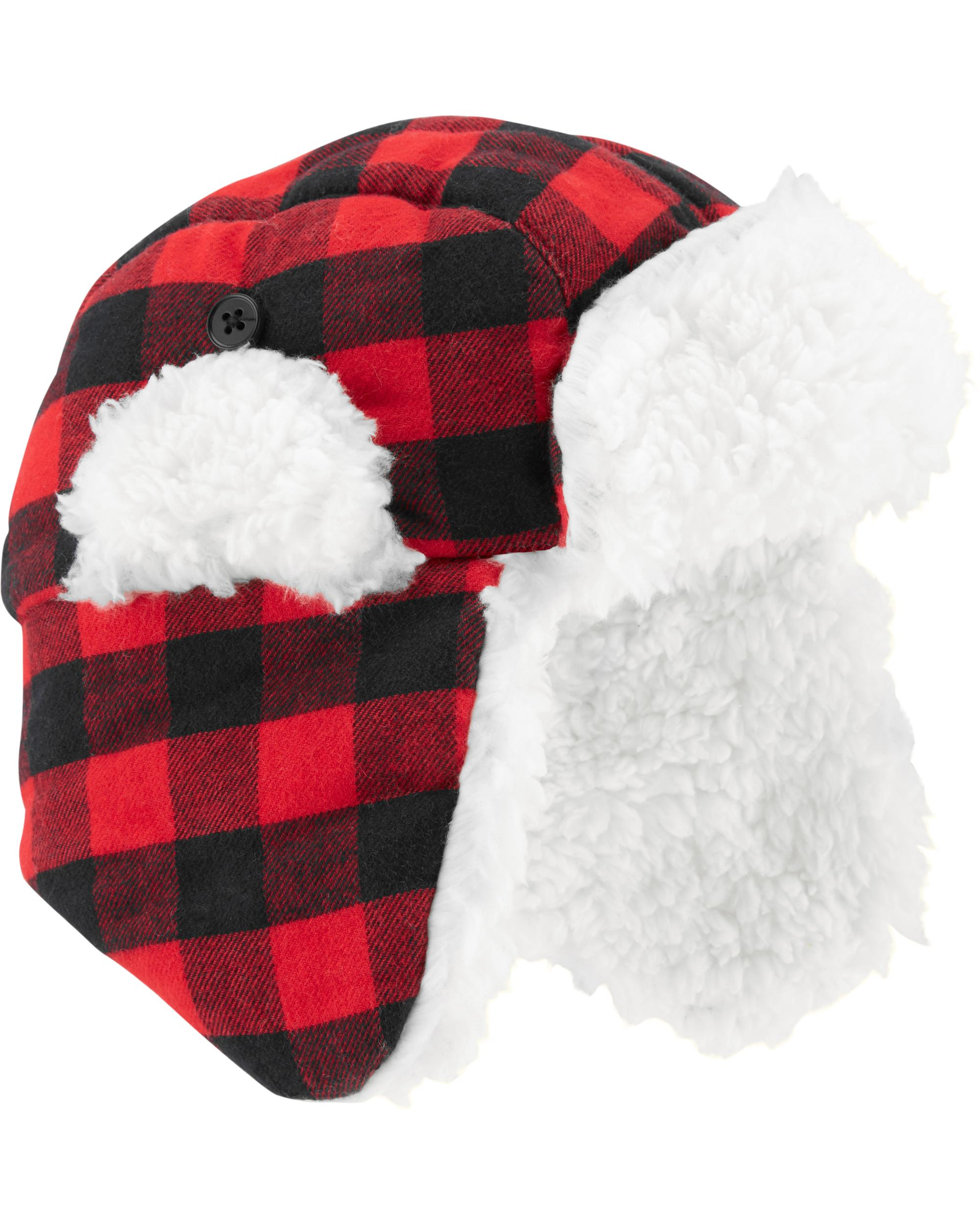 a15225fe0 Buffalo Check Flannel Trapper Hat | carters.com