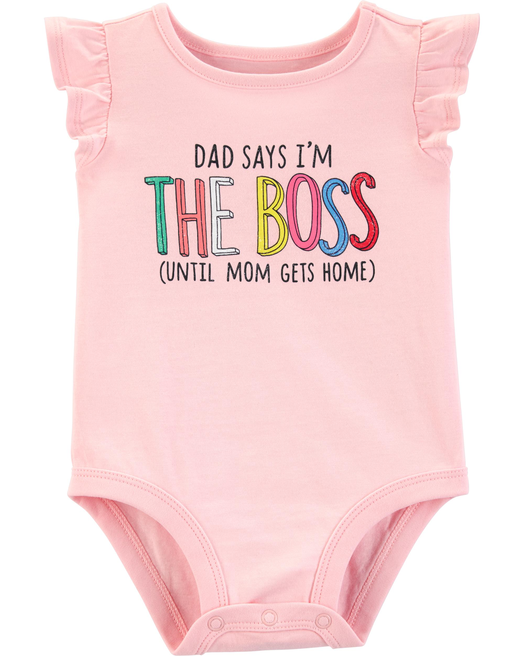 Dad Says I M The Boss Collectible Bodysuit Carters Com