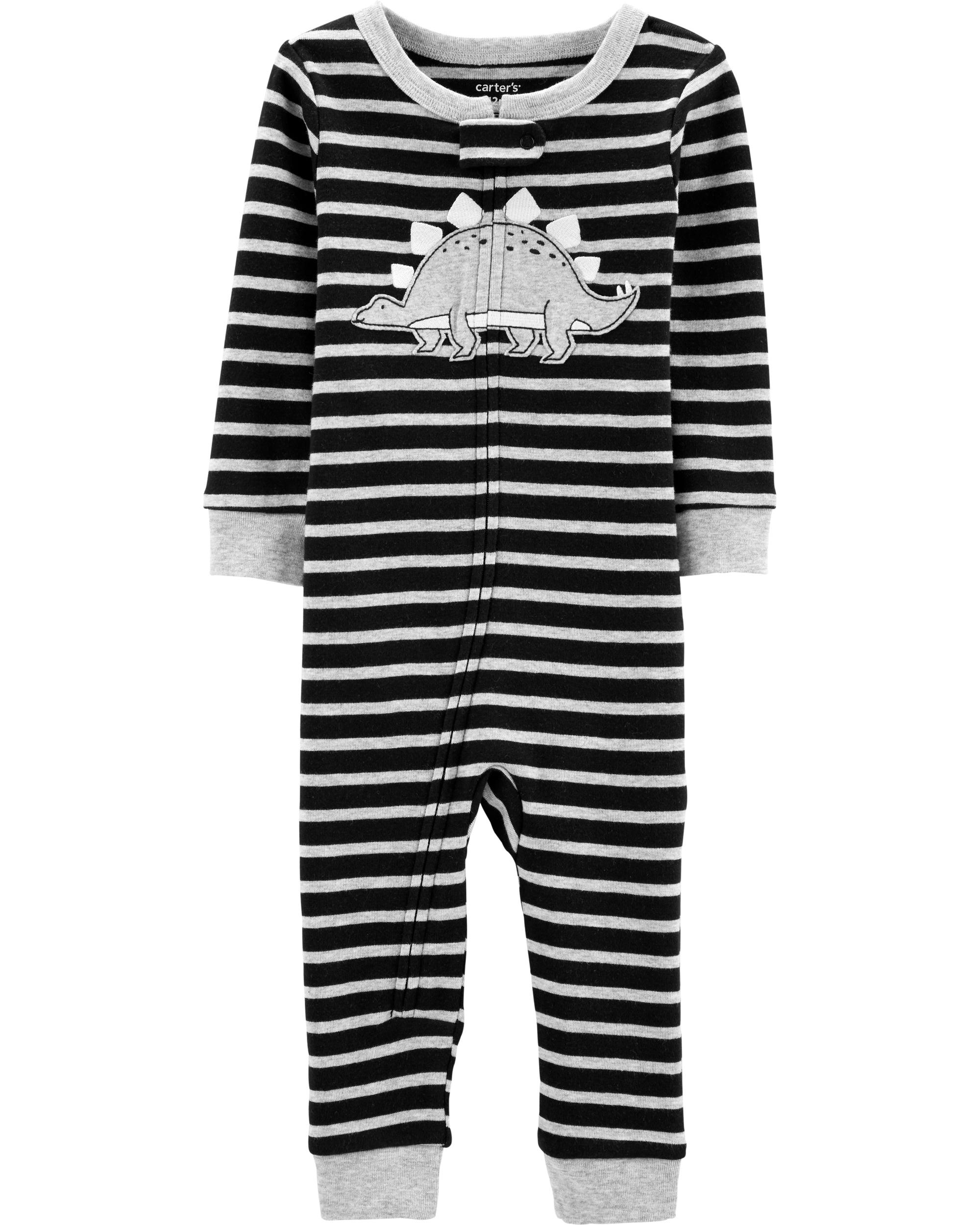 New Carter/'s 1-Piece Dinosaur Snug Fit Cotton Footless Pajama PJs Boy Sleeper