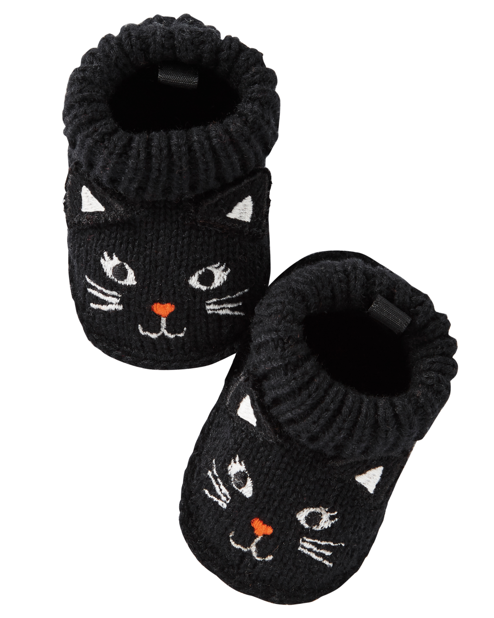 797e92f0063 Black Cat Crocheted Booties | carters.com