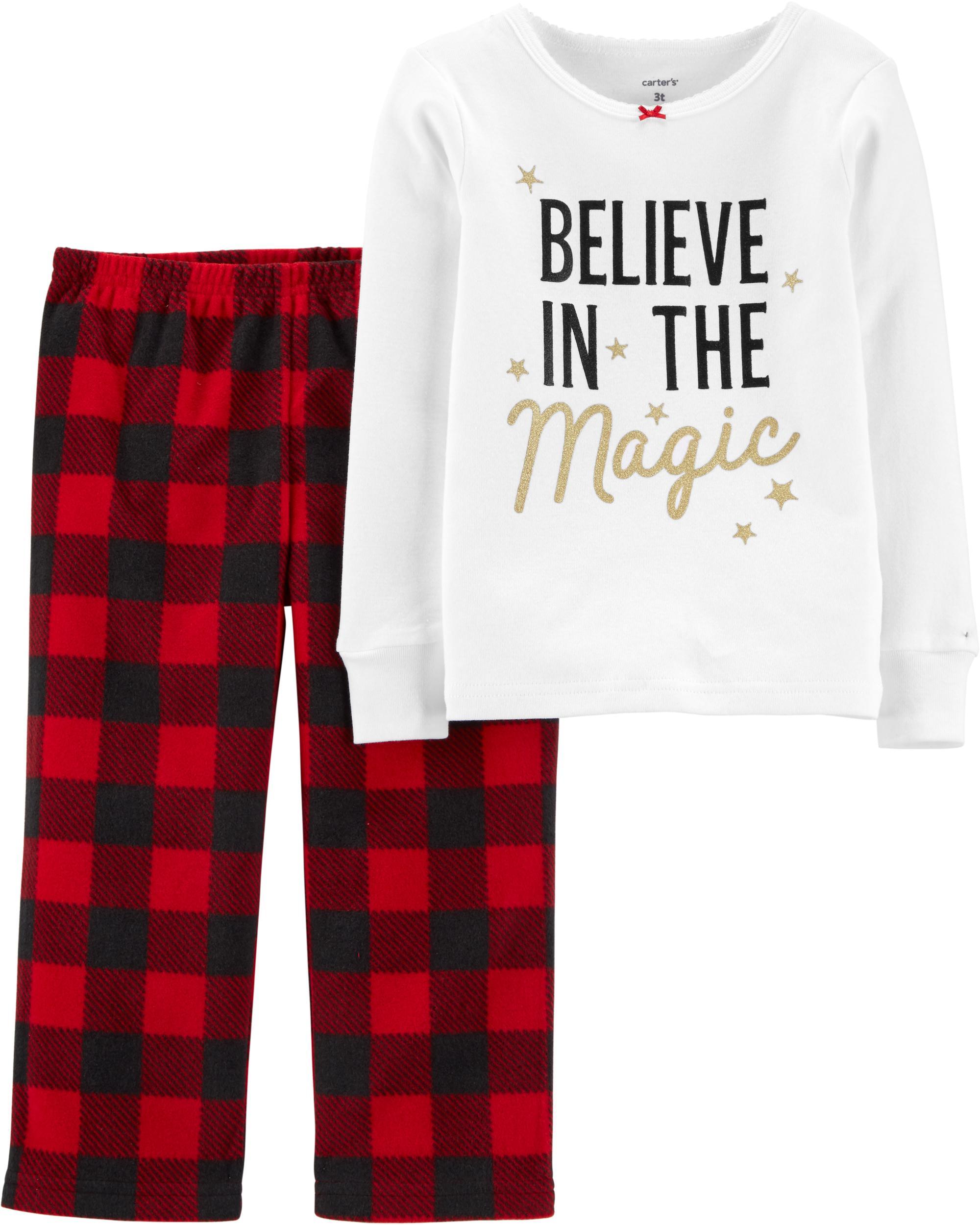 Christmas Fleece.2 Piece Christmas Magic Snug Fit Cotton Fleece Pjs Carters Com