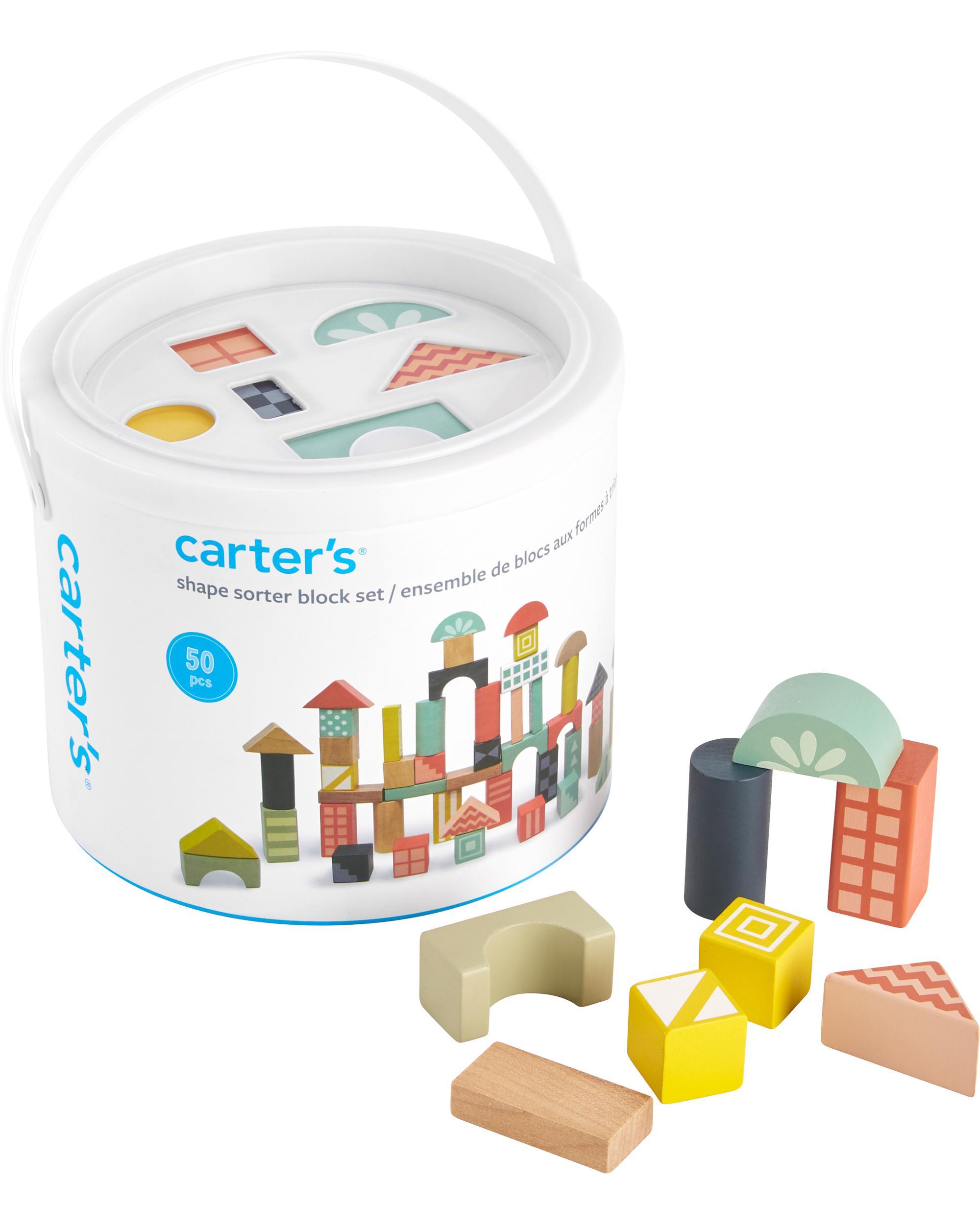 Carters 50-Piece Wooden Block Set