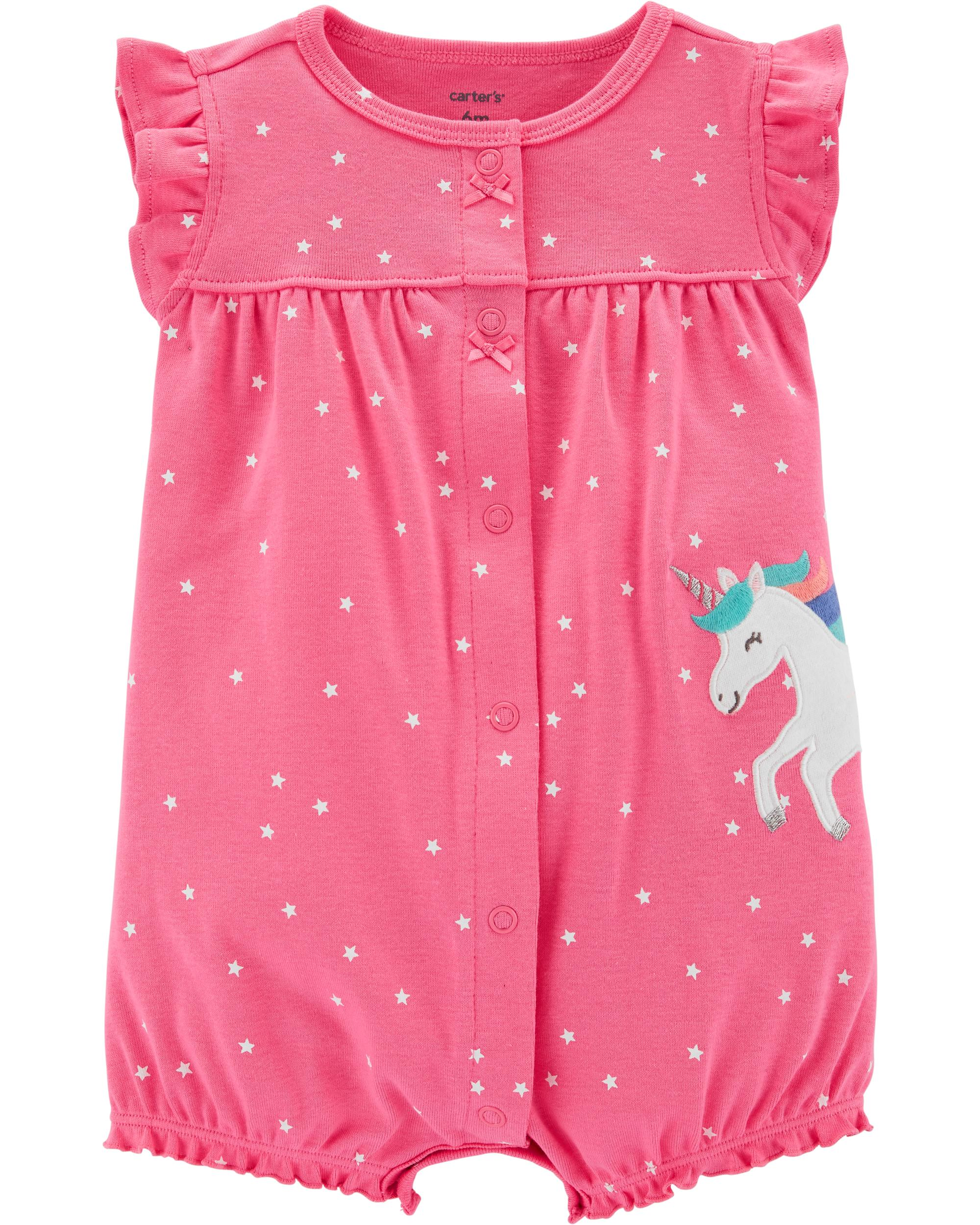 0abb30566c4a2 Unicorn Snap-Up Romper | carters.com