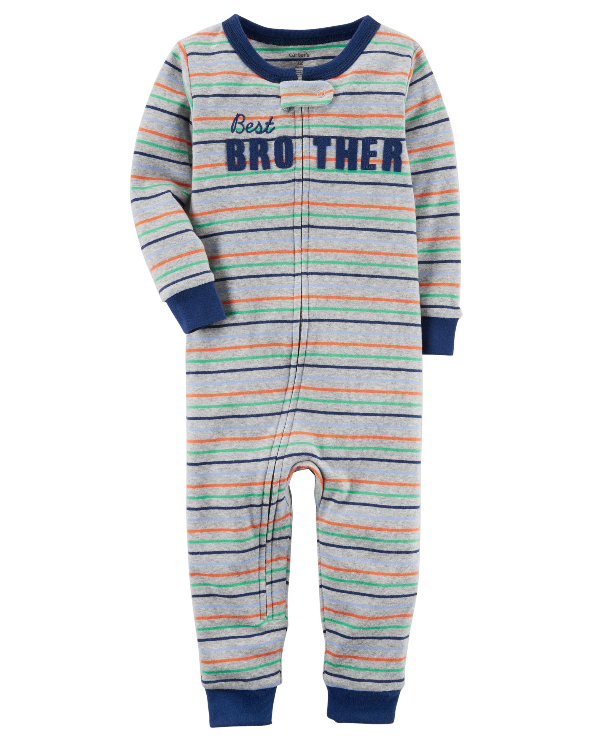 Carters Baby Boys 1-Piece Snug Fit Footless Cotton Pajamas