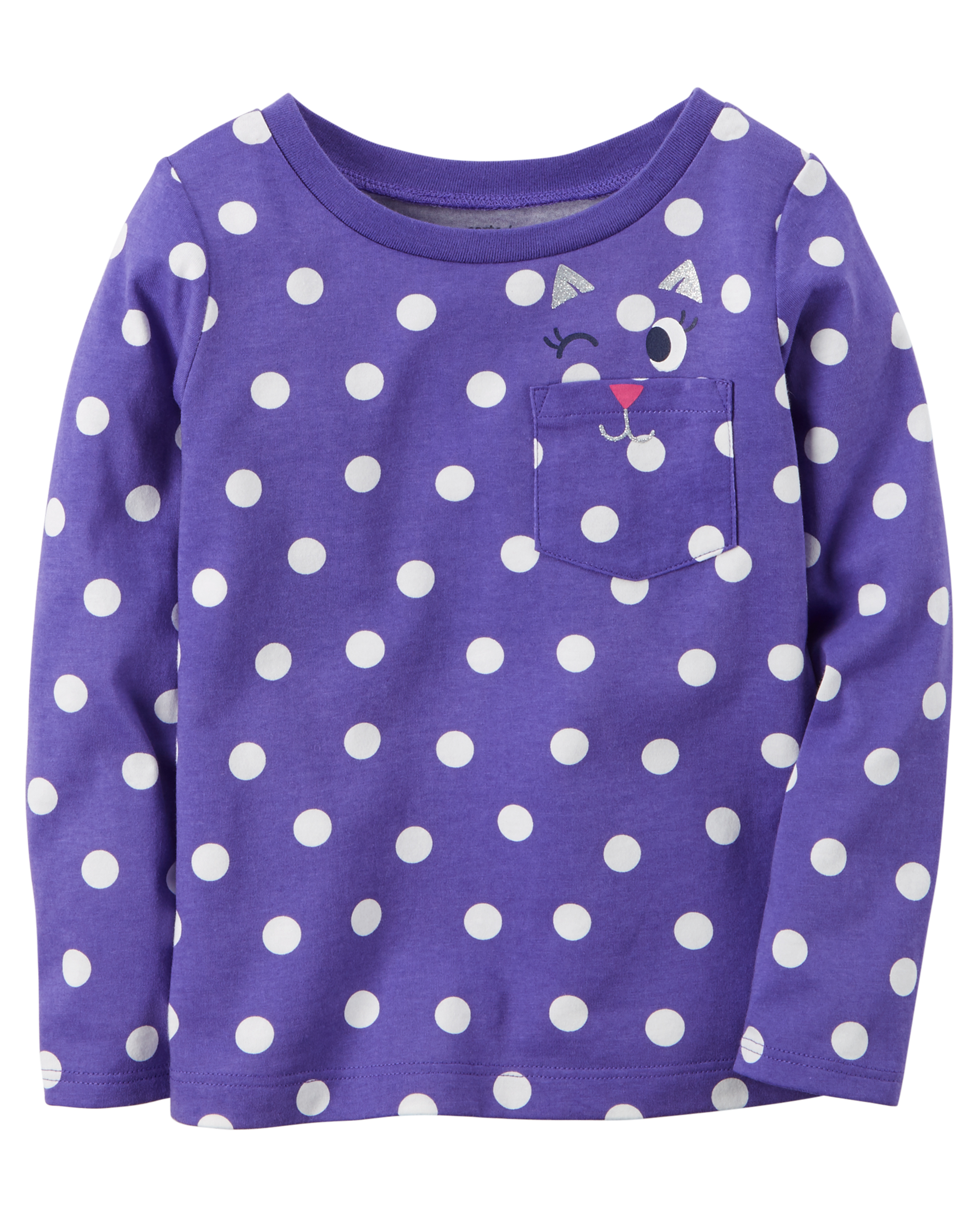 Polka Dot Cat Pocket Tee