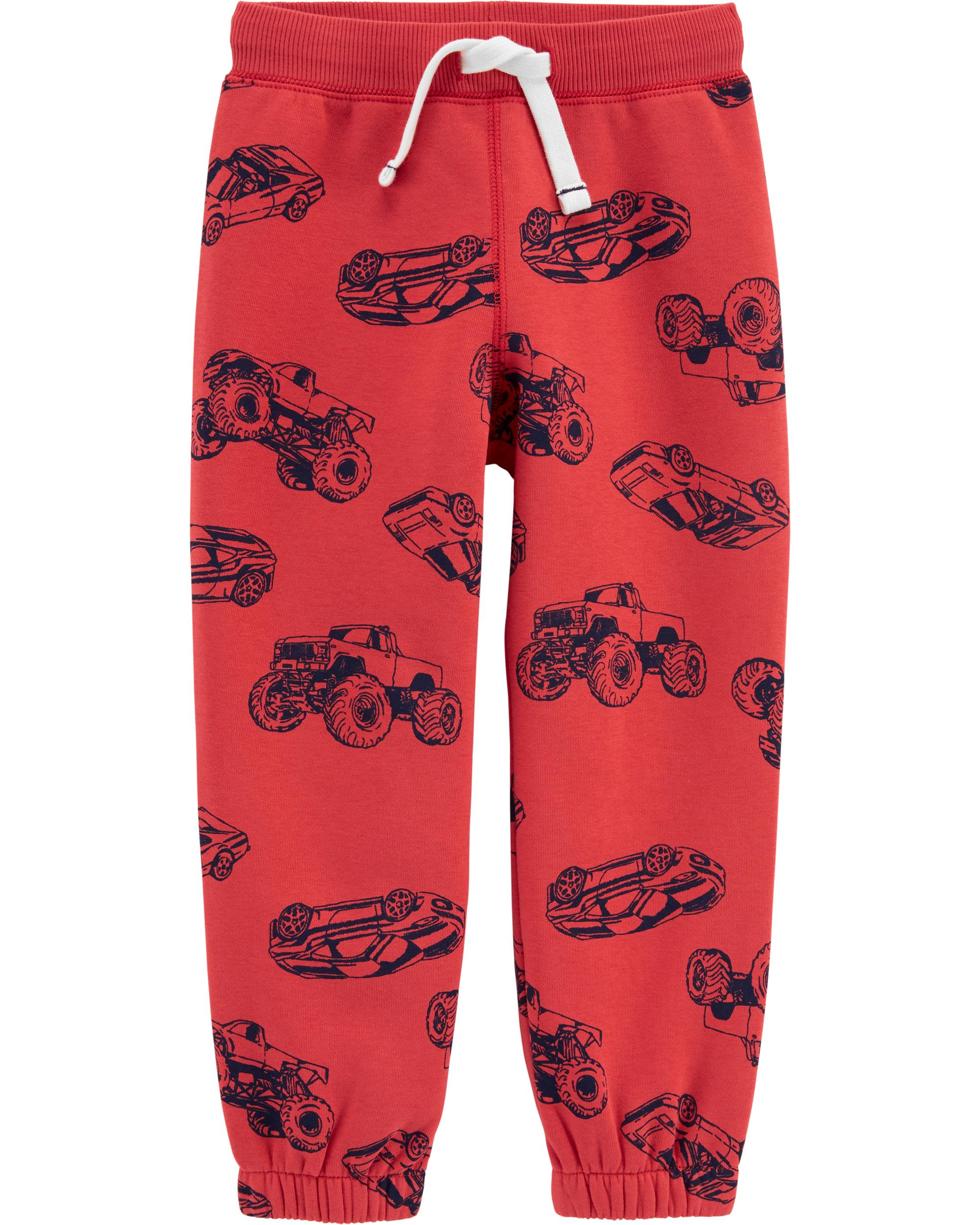 Cars Pull On Fleece Lined Joggers Carters Com