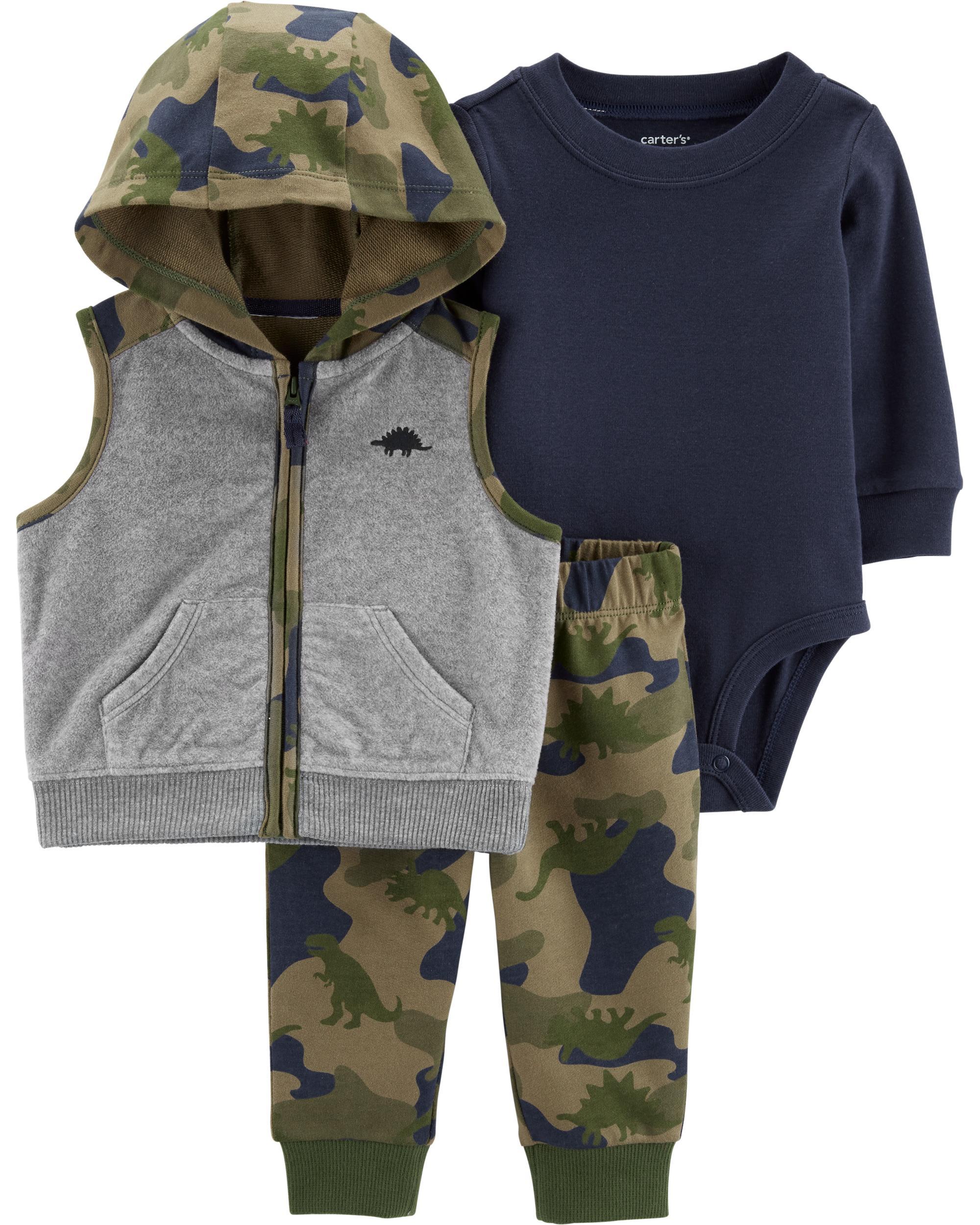 a47515f2b3c65 3-Piece Camo Little Vest Set   carters.com