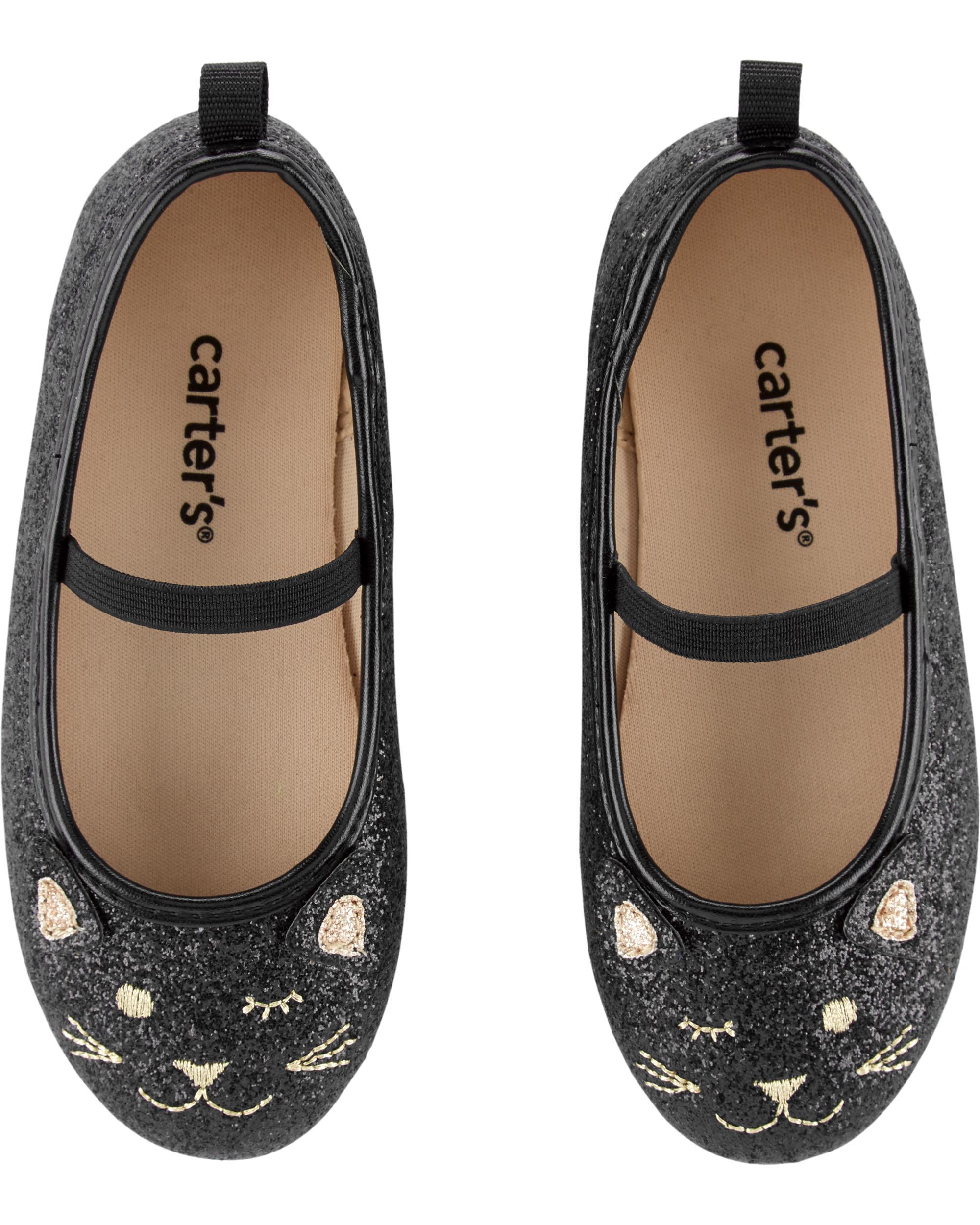 f28ea1e087 Carter's Glitter Cat Ballet Flats | carters.com