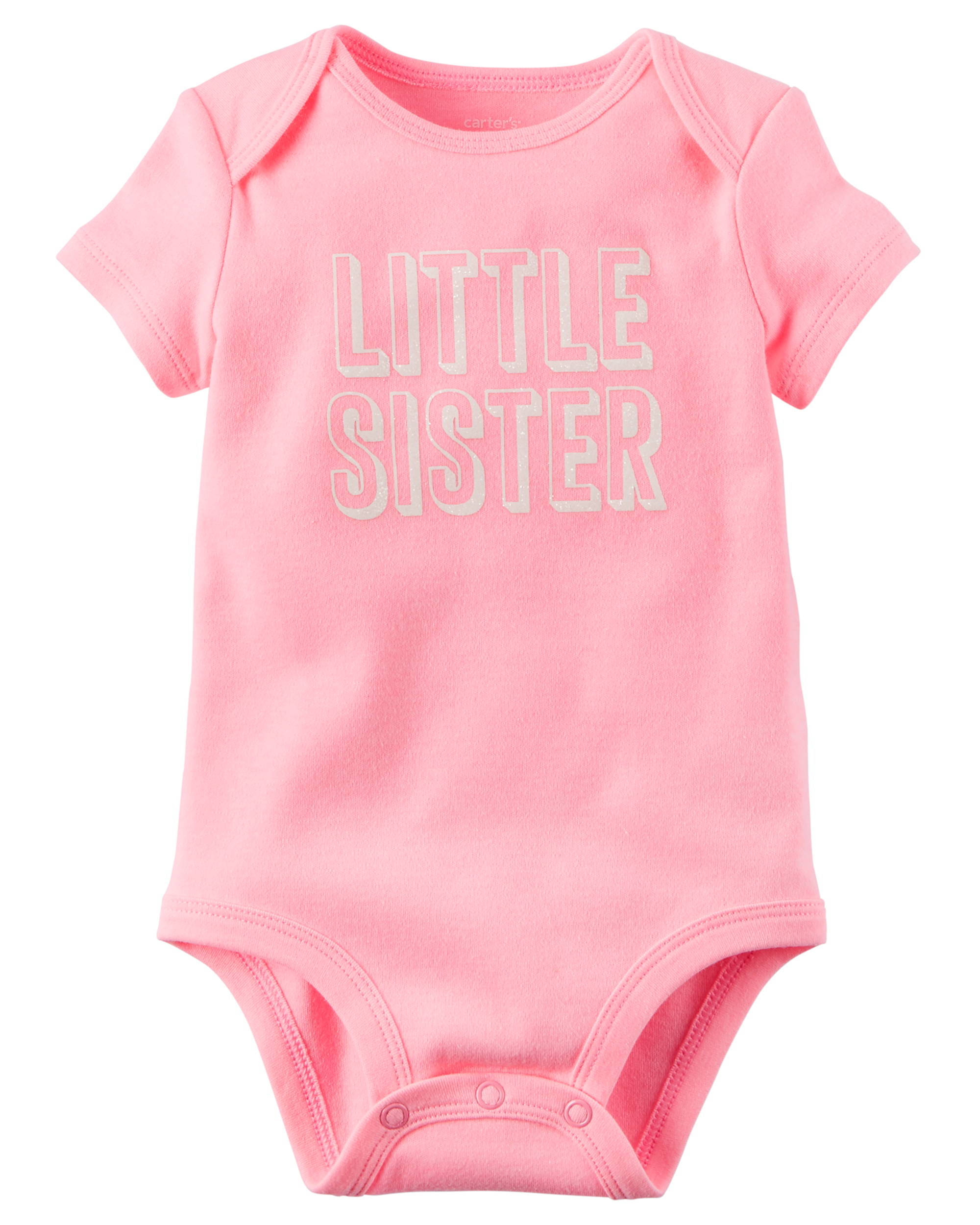 NEW Carter/'s Best Little Sister Pink Bodysuit Newborn 3m 6m 9m 12m Glitter Heart