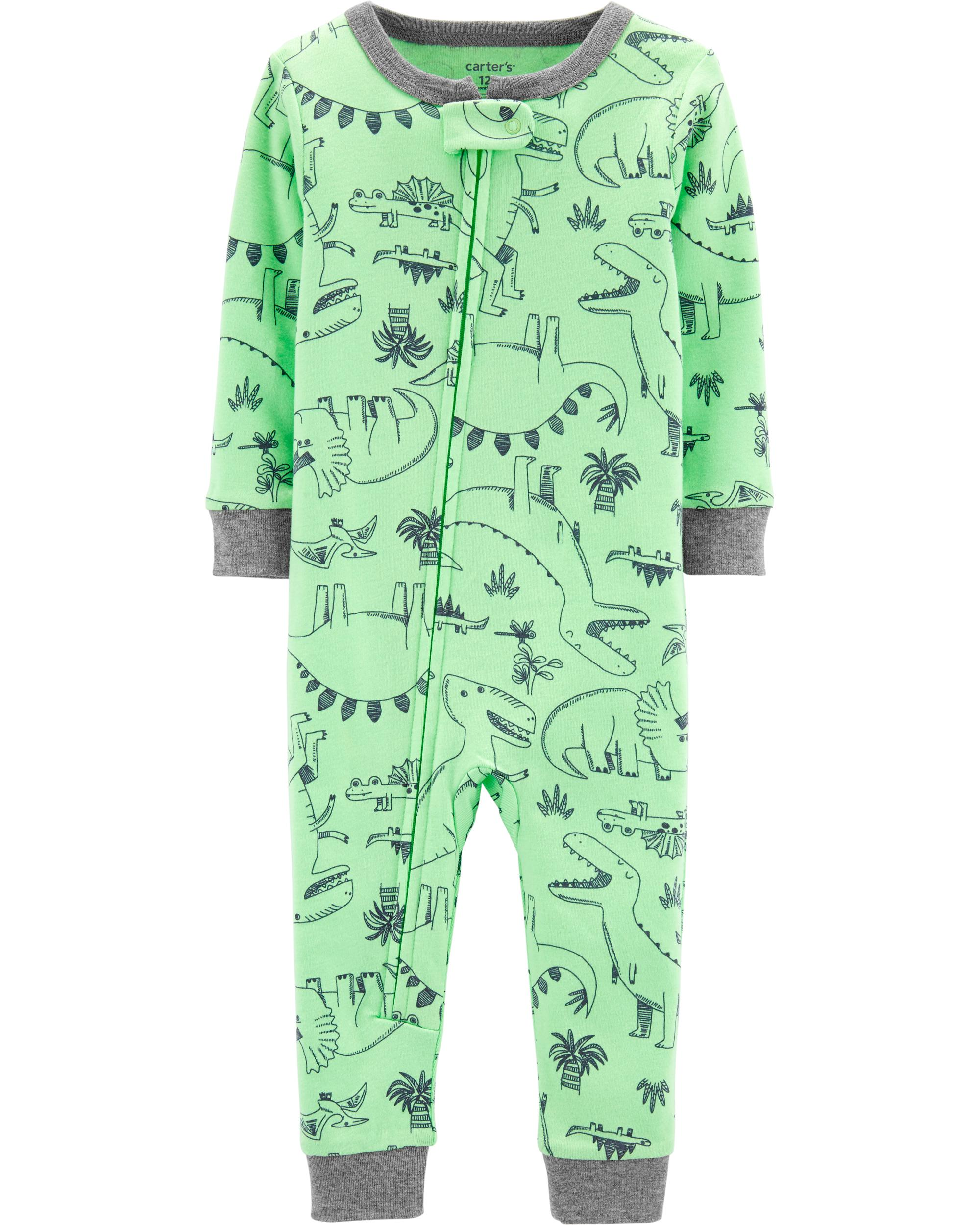 Carters Boys One Piece Dino Snug Fit Cotton Footless Pajamas