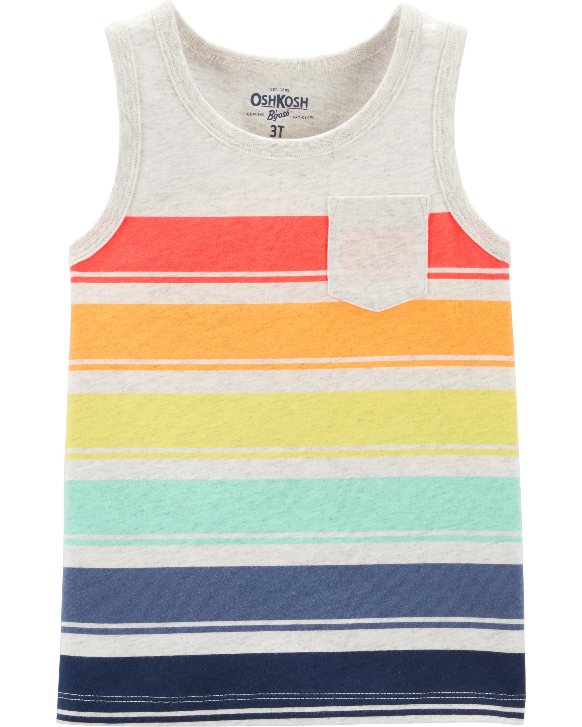 Carters Little Boys Striped Tank Pocket Shirt
