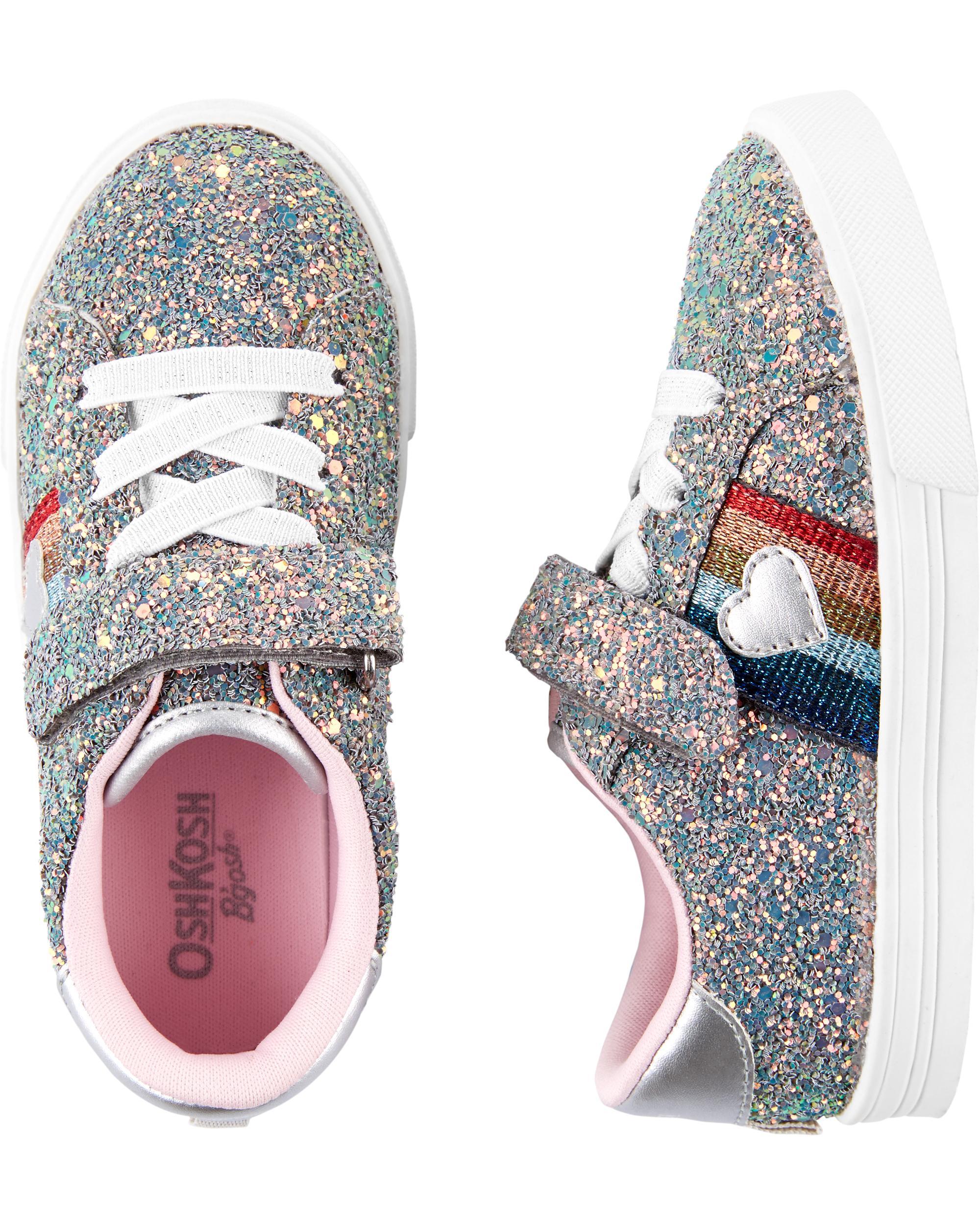 a095726641 OshKosh Glitter Rainbow Sneakers | carters.com