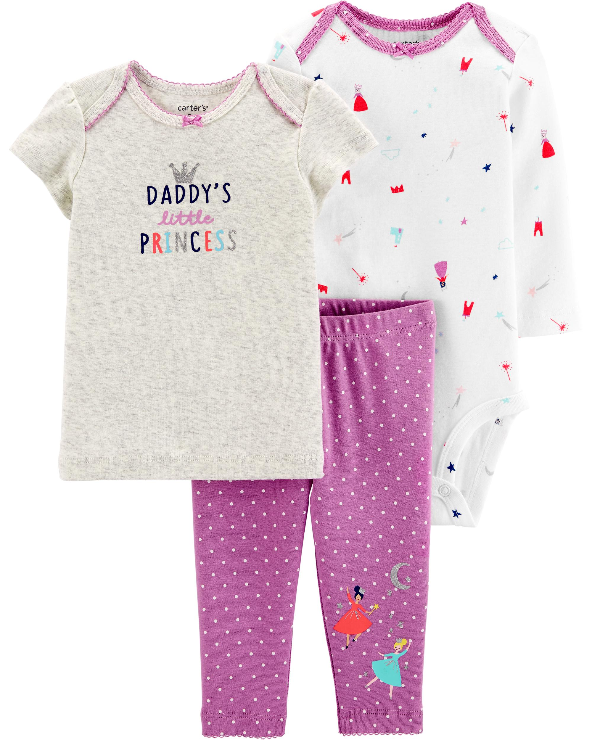 94542f9a6e2fd 3-Piece Princess Little Character Set | carters.com