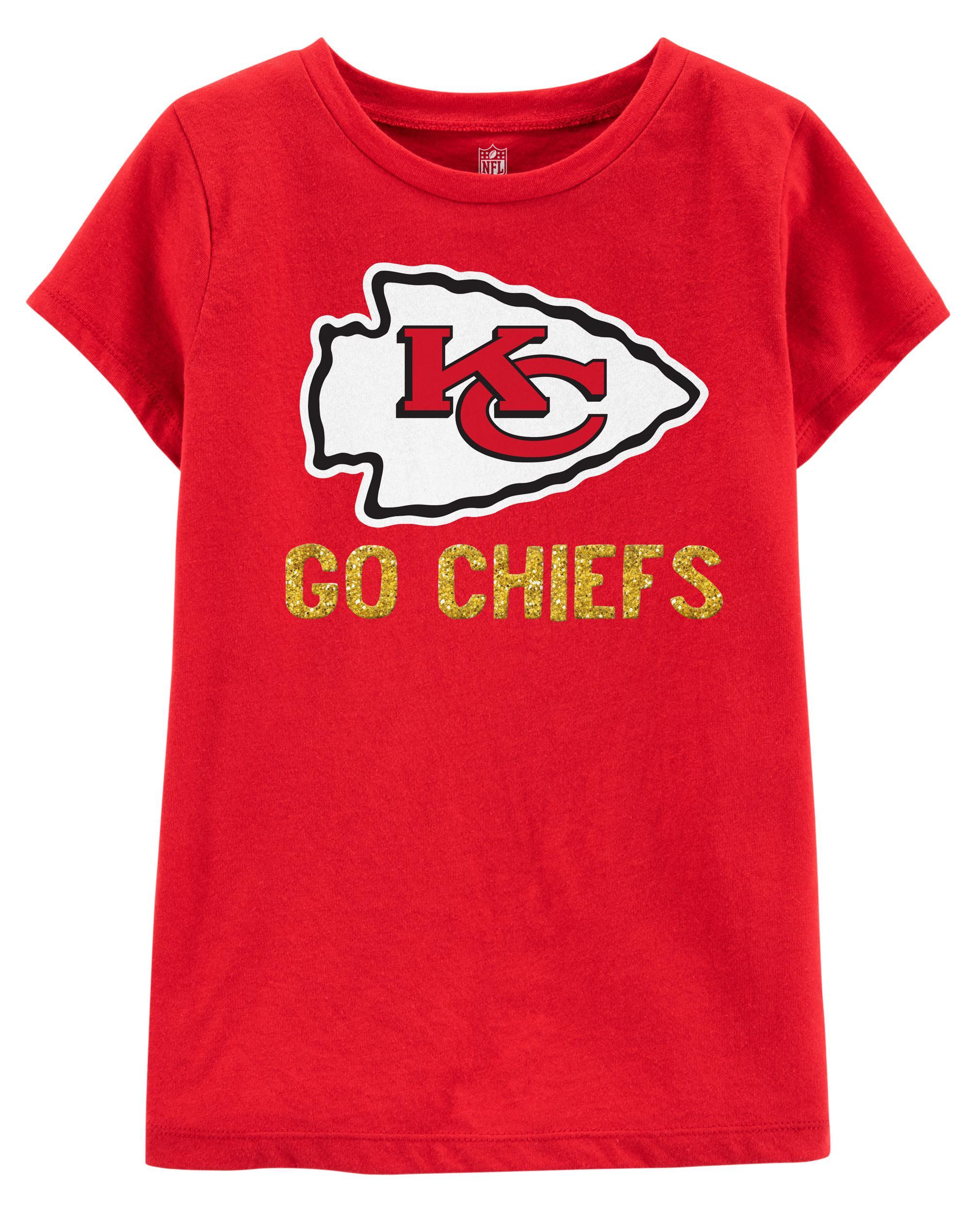 e7df3448 NFL Kansas City Chiefs Glitter Tee | carters.com