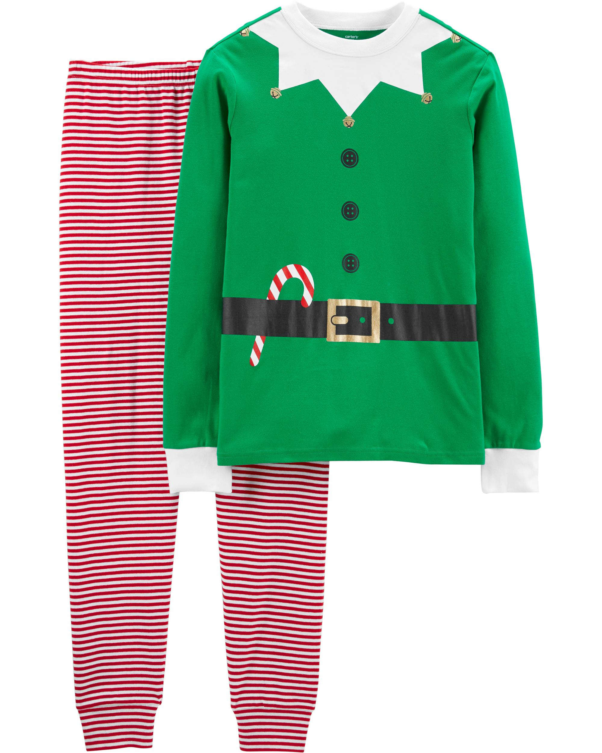 32bd46b28d84c Family Matching Holiday Elf Pajamas | carters.com