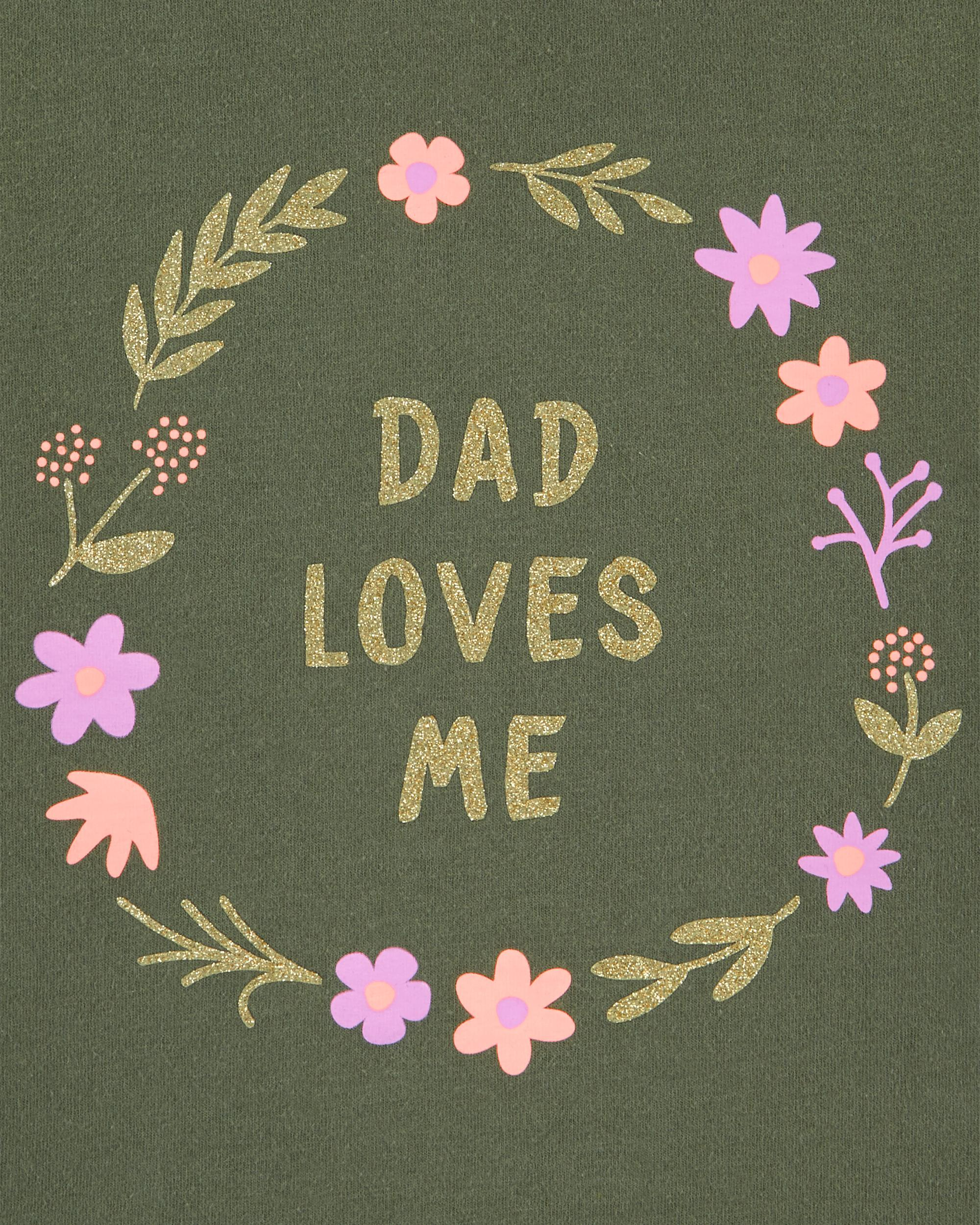 Glitter Dad Loves Me Jersey Tee | carters com