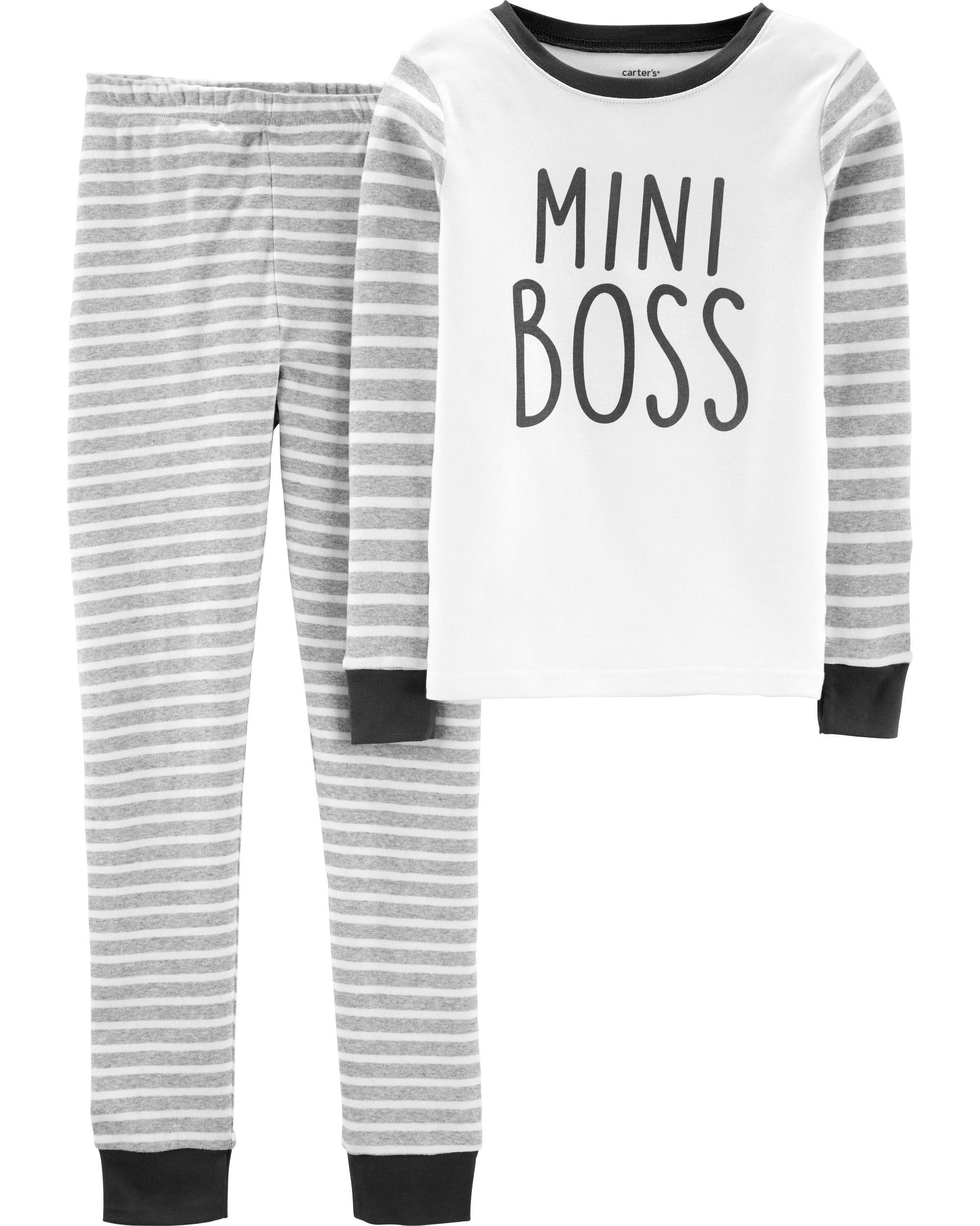 0778a06187100 2-Piece Mini Boss Snug Fit Cotton PJs | carters.com