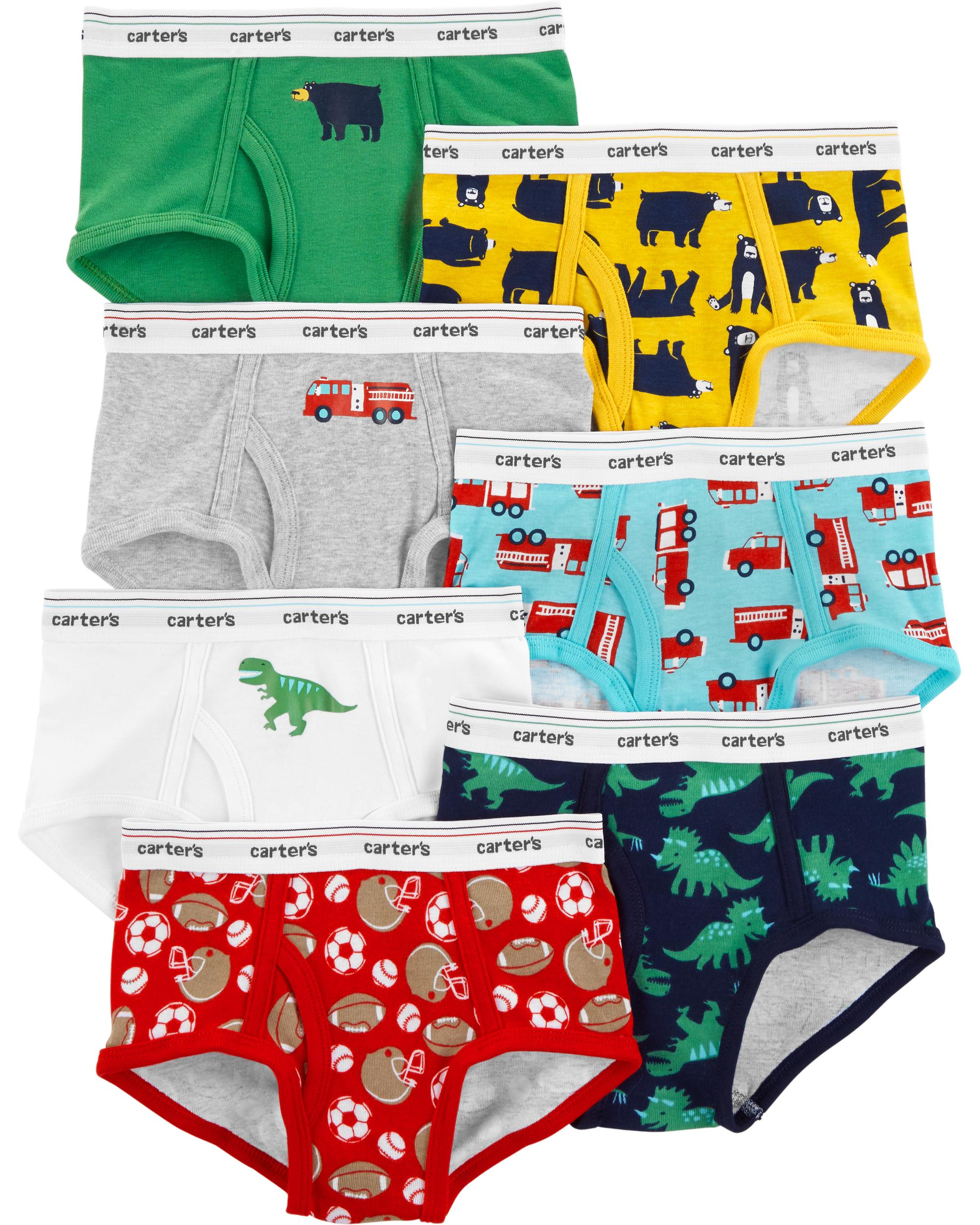 New Carter/'s 10 Pairs Underwear Boy Briefs NWT 2T 3T 4T 5T 12 14 year Solid Car