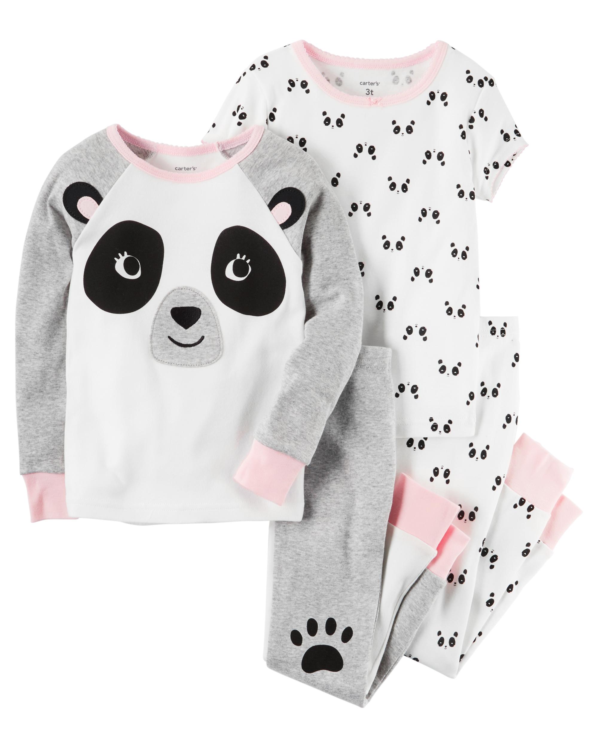 c8510fc2b66 4-Piece Panda Snug Fit Cotton PJs   carters.com
