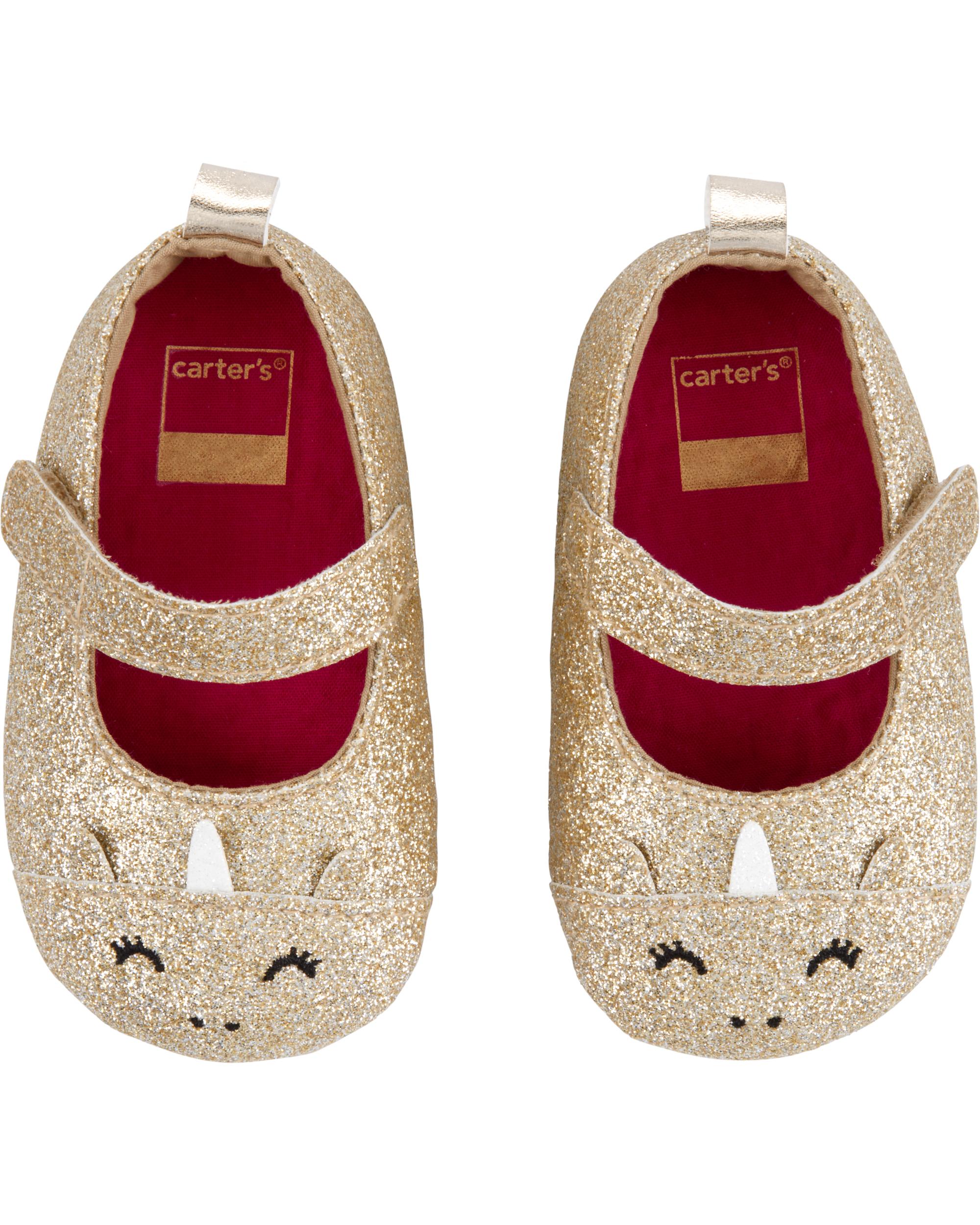 Carter S Unicorn Mary Jane Baby Shoes Carters Com